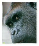 Funny Gorilla Fleece Blanket