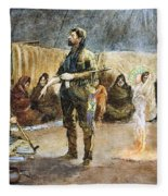 Fur Trader Fleece Blanket