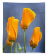 Furled Poppy Fleece Blanket