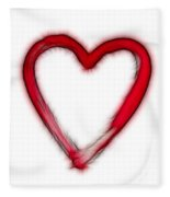 Furry Heart - Symbol Of Love Fleece Blanket