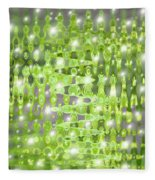 Future Forest Abstract Fleece Blanket