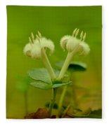 Fuzzy Blooms Fleece Blanket