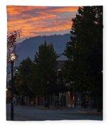 G Street Sunrise In Our Town Fleece Blanket