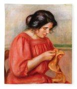Gabrielle Darning Fleece Blanket