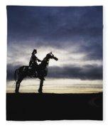 Gaelic Chieftain By Maurice Harron Fleece Blanket