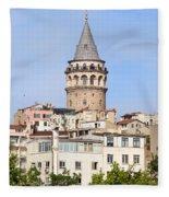 Galata Tower In Istanbul Fleece Blanket