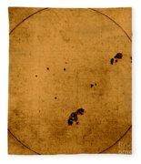 Galileo Sunspot Illustration Fleece Blanket