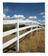 Galloping Fence Fleece Blanket