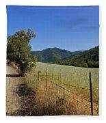 Galls Creek Road In Southern Oregon Fleece Blanket