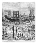 Galveston: Fire, 1877 Fleece Blanket