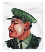 Gamal Abder Nassal Fleece Blanket