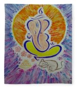 Ganesh Vandan Fleece Blanket