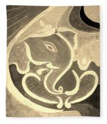 Ganesha In Sepia Hues Fleece Blanket