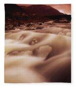 Gap Of Dunloe, River Loe, County Kerry Fleece Blanket