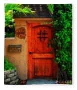 Garden Doorway Fleece Blanket