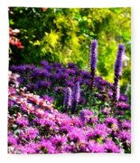 Garden Flowers 3 Fleece Blanket