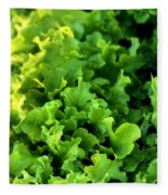Garden Fresh Salad Bowl Lettuce Fleece Blanket