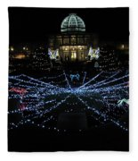 Garden Lights Fest Botanical Garden Richmond Va Fleece Blanket