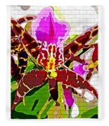 Garden Orchid Fleece Blanket