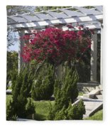 Garden Pergola Fleece Blanket