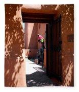 Garden Sculptures Museum Of Art In Santa Fe Nm Fleece Blanket