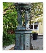 Garden Statuary In The French Quarter Fleece Blanket