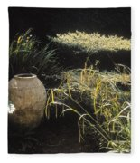 Garden Urns In A Garden Fleece Blanket