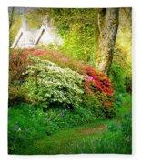Gardens Of The Old Rectory Fleece Blanket