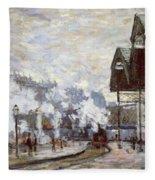 Gare Saint-lazare Fleece Blanket