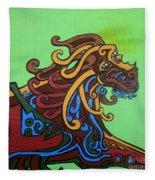 Gargoyle Dog Fleece Blanket