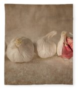 Garlic And Textures Fleece Blanket
