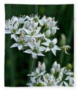 Garlic Chive Blooms Fleece Blanket