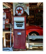 Gas Pump - Texaco Gas Globe Fleece Blanket