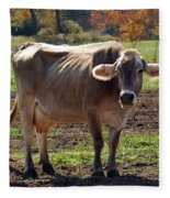 Gasping Cow Fleece Blanket