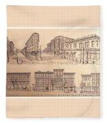 Gastown Vancouver Canada Prints Fleece Blanket