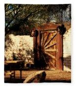 Gate To Cowboy Heaven In Old Tuscon Az Fleece Blanket