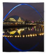 Gateshead Millennium Bridge Fleece Blanket