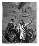 Gay-lussac And Jean-baptiste Biot, 1804 Fleece Blanket