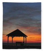 Gazebo At Sunset Seaside Park, Nj Fleece Blanket