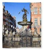 Gdansk Old City In Poland Fleece Blanket