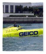 Geico Race Boat Fleece Blanket