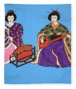 Geisha Serenade Fleece Blanket