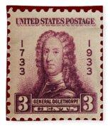 General James Oglethorpe Postage Stamp Fleece Blanket