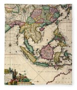 General Map Extending From India And Ceylon To Northwestern Australia By Way Of Southern Japan Fleece Blanket