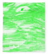 Gentle Giant In Negative Light Green Fleece Blanket