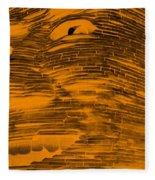 Gentle Giant In Negative Orange Fleece Blanket