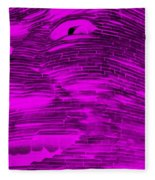 Gentle Giant In Negative Purple Fleece Blanket