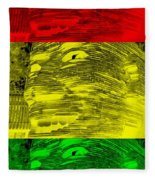 Gentle Giant In Negative Stop Light Colors Fleece Blanket