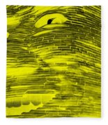 Gentle Giant In Negative Yellow Fleece Blanket