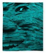 Gentle Giant In Turquois Fleece Blanket